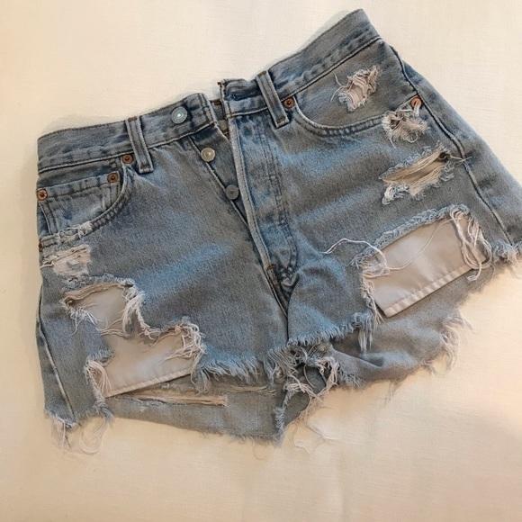 Levi's Pants - Levi's 501 Destroyed Shorts